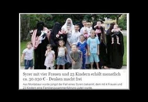 euro monatlich f r eine islamische gro familie aus syrien fake news nein die. Black Bedroom Furniture Sets. Home Design Ideas